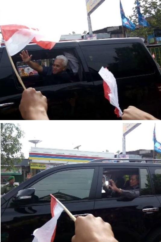 Hatta Rajasa dan Susilo Bambang Yudhoyono Menyapa Warga Anabanua