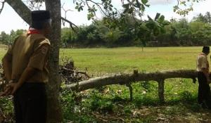 Ketua Kwarran Maniangpajo meninjau Areal Perkemahan Bulu Telle